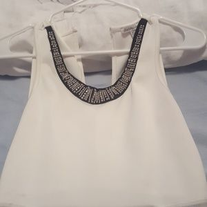 White Charlotte Russe Dress with Mesh Side Panel